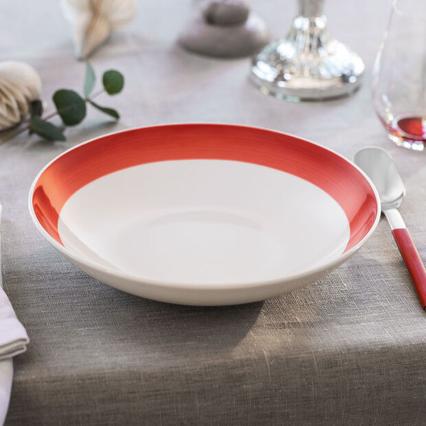 Colourful Life Deep Red flat bowl, , large
