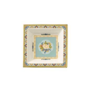 Samarkand Aquamarin square bowl 10 x 10 cm