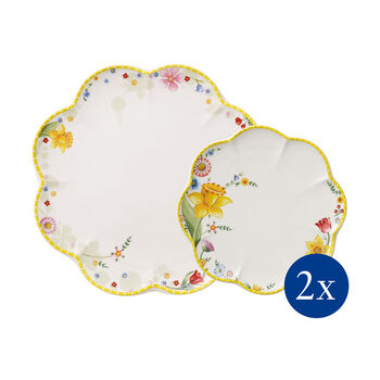 Spring Awakening plate set, Flowers, 4 pieces, for 2 people
