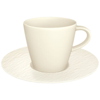 Manufacture Rock Blanc coffee cup and saucer, white, 2 pieces