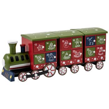 Winter Collage Accessories Advent calendar train, 40 cm