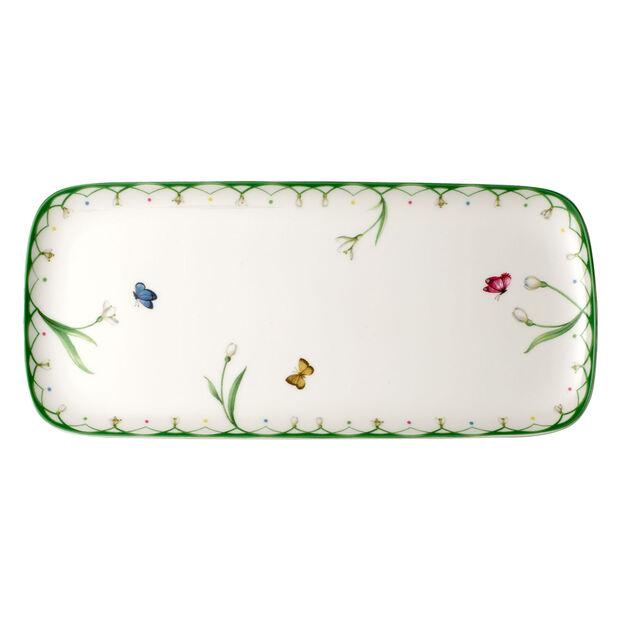 Colourful Spring rectangular cake plate, , large