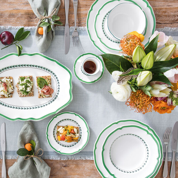 French Garden Green Line bread plate, , large
