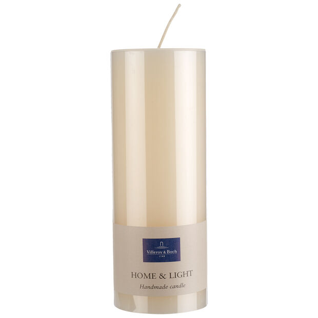 Essentials Candles Ivory pillar 19cm, , large