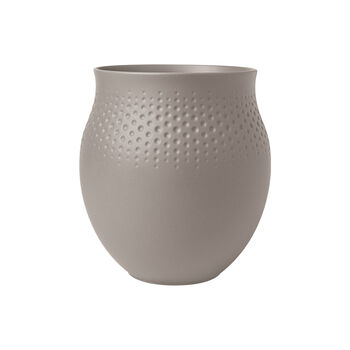 Manufacture Collier vase, 16.5 x 18 cm, Perle, Taupe