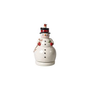 Nostalgic Melody snowman rotating, white, 9 x 9 x 17 cm