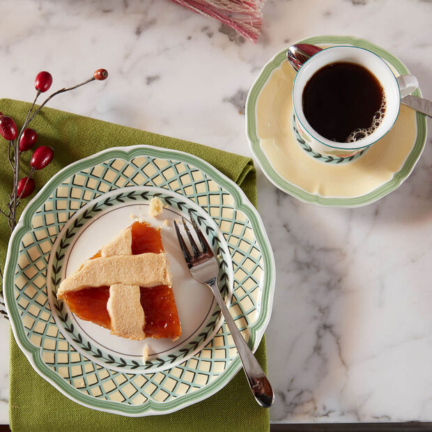 French Garden Orange breakfast plate, , large
