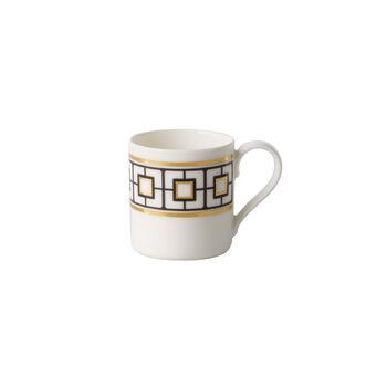MetroChic mocha/espresso cup, 80 ml, white/black/gold
