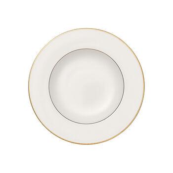 Anmut Gold soup plate, 24 cm diameter, white/gold