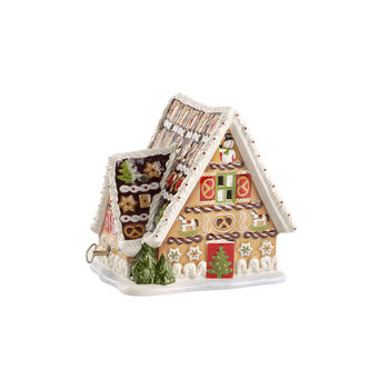 Christmas Toys gingerbread house with music box
