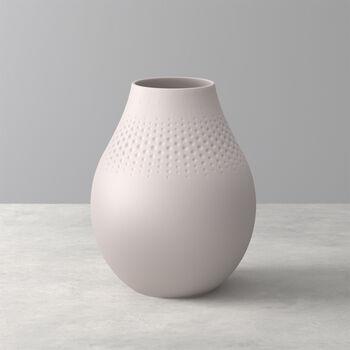 Manufacture Collier vase, 16 x 20 cm, Perle, Beige