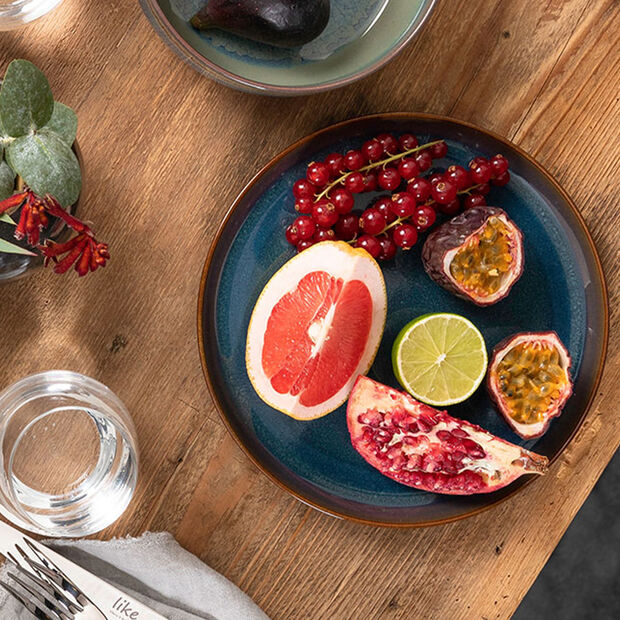 Crafted Denim soup plate, blue, 21.5 cm, , large
