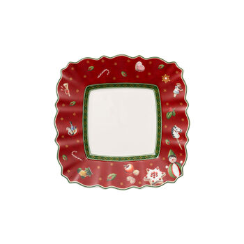 Toy's Delight Bread & butter plate square, red 17x17cm