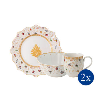 Toy's Delight breakfast set for 2, anniversary edition, 6 pieces