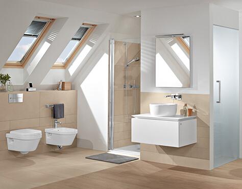 make clever use of a sloping roof in your bathroom - villeroy & boch, Moderne deko