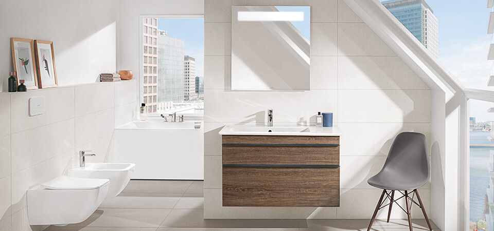 Bath Under A Sloping Roof Clever Use Of Space Villeroy Boch