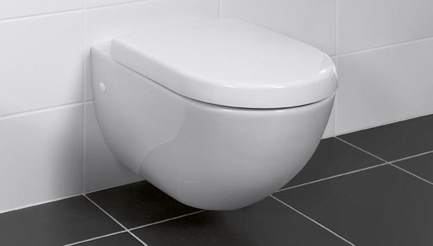 Compact toilet. Small  efficiently installed Bathrooms   Villeroy   Boch
