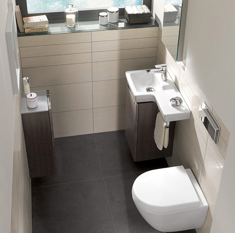The guest bathroom   Subway 2 0. Guest bathrooms from Villeroy   Boch   effective space solutions