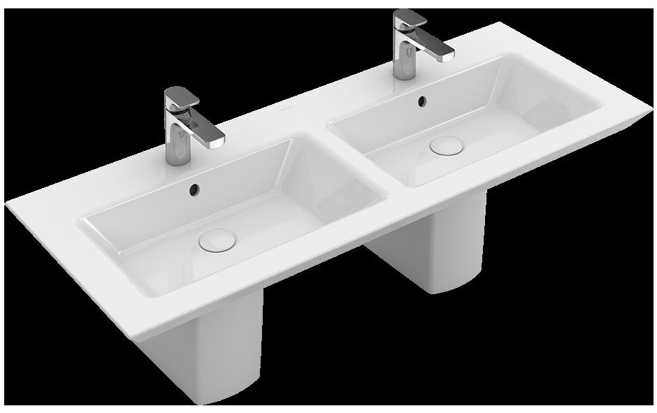Legato Double vanity washbasin Angular 4150D4 - Villeroy & Boch | {Doppelwaschtisch villeroy & boch 11}