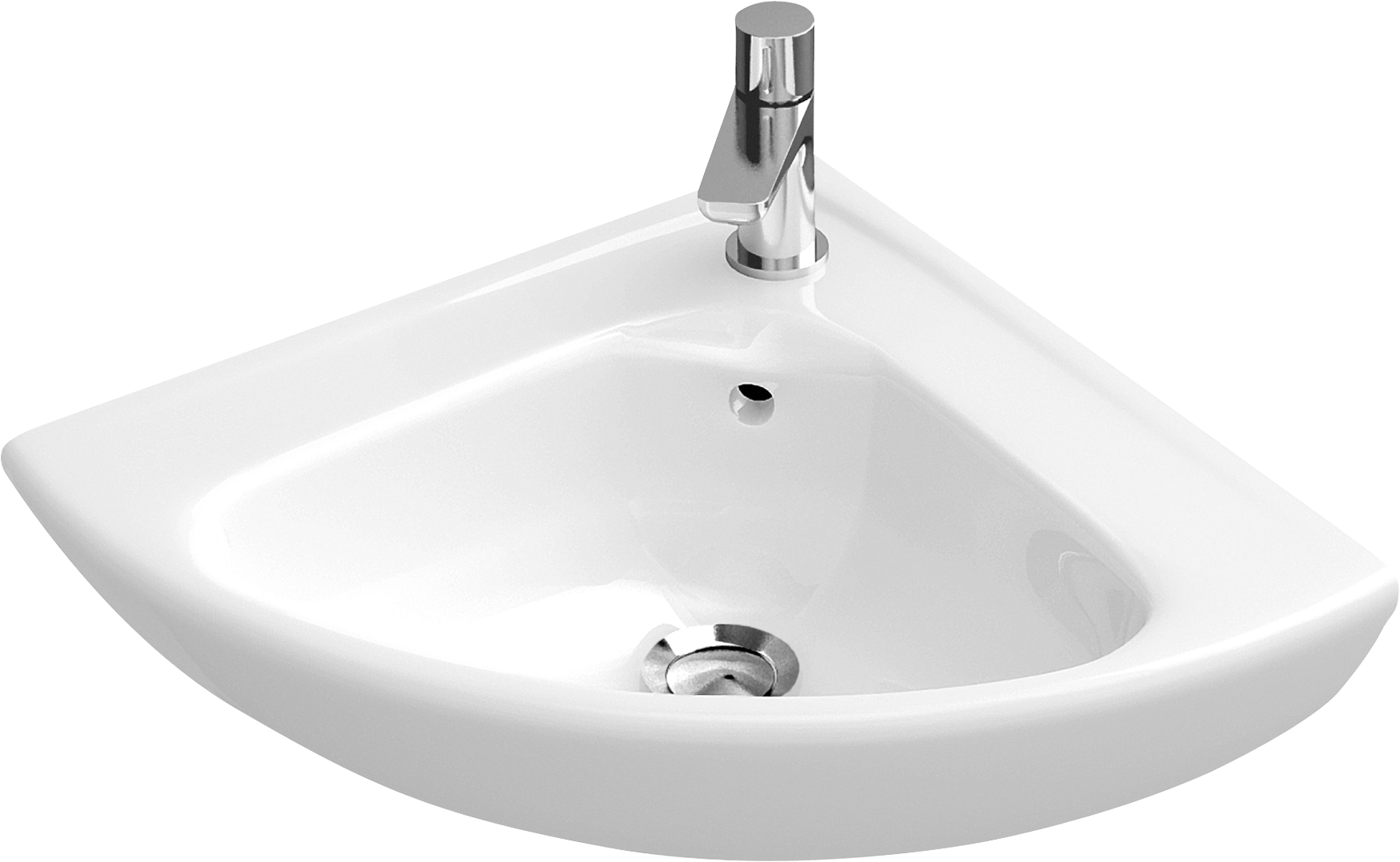 Corner handwashbasin Compact Angular. O novo Corner handwashbasin Compact Angular 732740   Villeroy   Boch